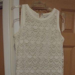 Exquisite Loft Lace Dress in Ivory Sz 12P